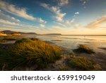 sunset on noordhoek beach  the... | Shutterstock . vector #659919049