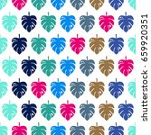tropical exotic seamless... | Shutterstock .eps vector #659920351