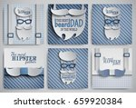 set of happy fathers day cards... | Shutterstock .eps vector #659920384