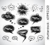 vector comical speech bubbles | Shutterstock .eps vector #65992120