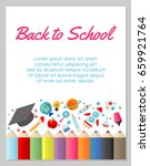 education object on back to... | Shutterstock .eps vector #659921764