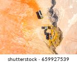 aerial view of a excavator... | Shutterstock . vector #659927539