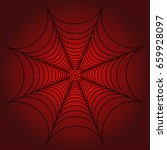 spider web  cobweb on red... | Shutterstock .eps vector #659928097