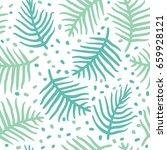 tropical blue palm or ferm...   Shutterstock .eps vector #659928121