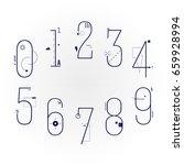 graphic flat line art style... | Shutterstock .eps vector #659928994