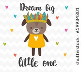 dream big little one.... | Shutterstock .eps vector #659934301