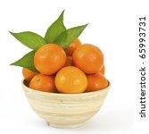 Bowl Of Fresh Tangerines
