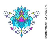 vector  abstract  oriental... | Shutterstock .eps vector #659939671