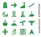 set of 16 way filled icons such ... | Shutterstock .eps vector #659943364