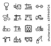 lift icons set. set of 16 lift...   Shutterstock .eps vector #659944924