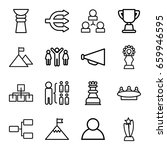 Leadership Icons Set. Set Of 1...