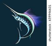 Marlin Fish Logo.sword Fishing...