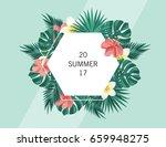trendy summer banner  poster... | Shutterstock .eps vector #659948275