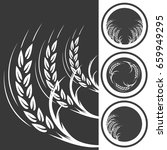 wheat ears icons and logo set.... | Shutterstock .eps vector #659949295