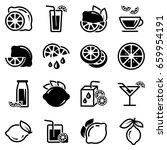 set of simple icons on a theme... | Shutterstock .eps vector #659954191