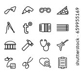instrument icons set. set of 16 ... | Shutterstock .eps vector #659955169