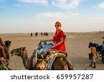 Tourists In The Sahara Desert...