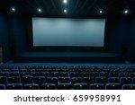 empty blue cinema hall with...   Shutterstock . vector #659958991