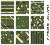set of abstract metallic... | Shutterstock .eps vector #659960965