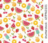 summer seamless pattern.... | Shutterstock .eps vector #659963101