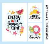 """enjoy the summer time"" card... 
