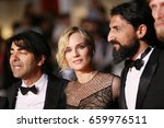 Small photo of Faith Akin, Diane Kruger, Numan Acar attend the 'In The Fade (Aus Dem Nichts)' premiere during the 70th Cannes Film Festival at Palais des Festivals on May 26, 2017 in Cannes, France.