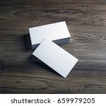 photo of blank business cards... | Shutterstock . vector #659979205