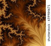 yellow and brown fractal... | Shutterstock . vector #659984671