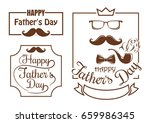 retro banners set for father's... | Shutterstock .eps vector #659986345