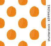 dried apricot seamless pattern... | Shutterstock .eps vector #659991061