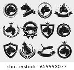 cat labels and elements set.... | Shutterstock .eps vector #659993077