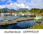 beautiful ucluelet harbour ... | Shutterstock . vector #659995219