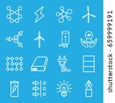 energy icons set. set of 16... | Shutterstock .eps vector #659999191