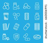 pill icons set. set of 16 pill... | Shutterstock .eps vector #660006991