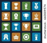 reward icons set. set of 16... | Shutterstock .eps vector #660009574