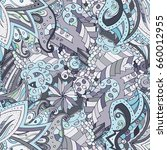 tracery seamless pattern.... | Shutterstock .eps vector #660012955