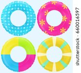 swim rings set. inflatable... | Shutterstock .eps vector #660016597
