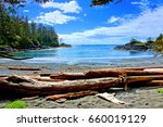 blue water and skies along the... | Shutterstock . vector #660019129