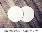 photo of two blank white beer... | Shutterstock . vector #660021229