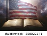 holy bible with the american... | Shutterstock . vector #660022141