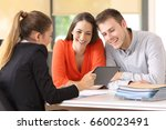 seller showing on line products ... | Shutterstock . vector #660023491
