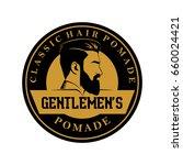 pomade hair man classic barber... | Shutterstock .eps vector #660024421