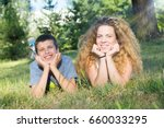 brother and sister bonding at... | Shutterstock . vector #660033295