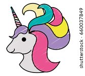 cute fantasy unicorn character | Shutterstock .eps vector #660037849