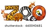 font design for word zoo... | Shutterstock .eps vector #660040681
