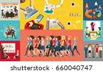 infographic design for business ... | Shutterstock .eps vector #660040747