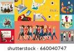 infographic design for business ... | Shutterstock .eps vector #660040747