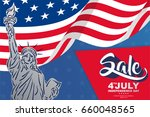 happy independence day with... | Shutterstock .eps vector #660048565