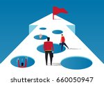 trap on the road to success | Shutterstock .eps vector #660050947