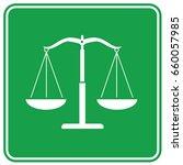 justice scale icon design clean ...